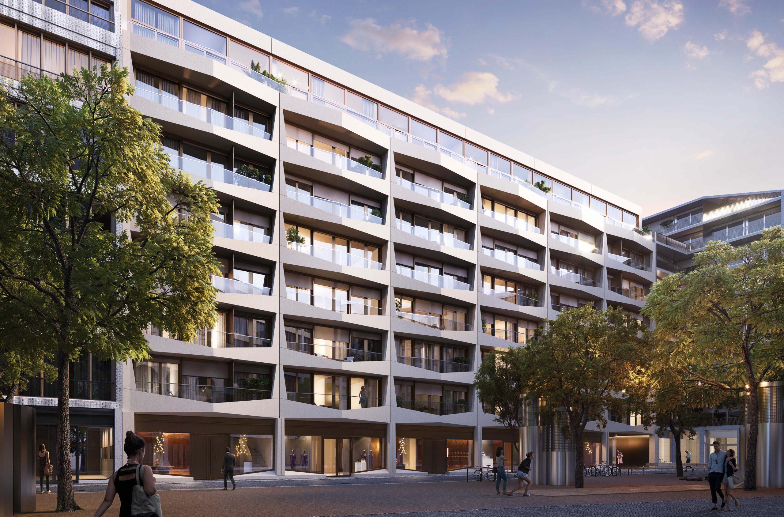 Form3 (JON) Fassade am Bernsteinplatz